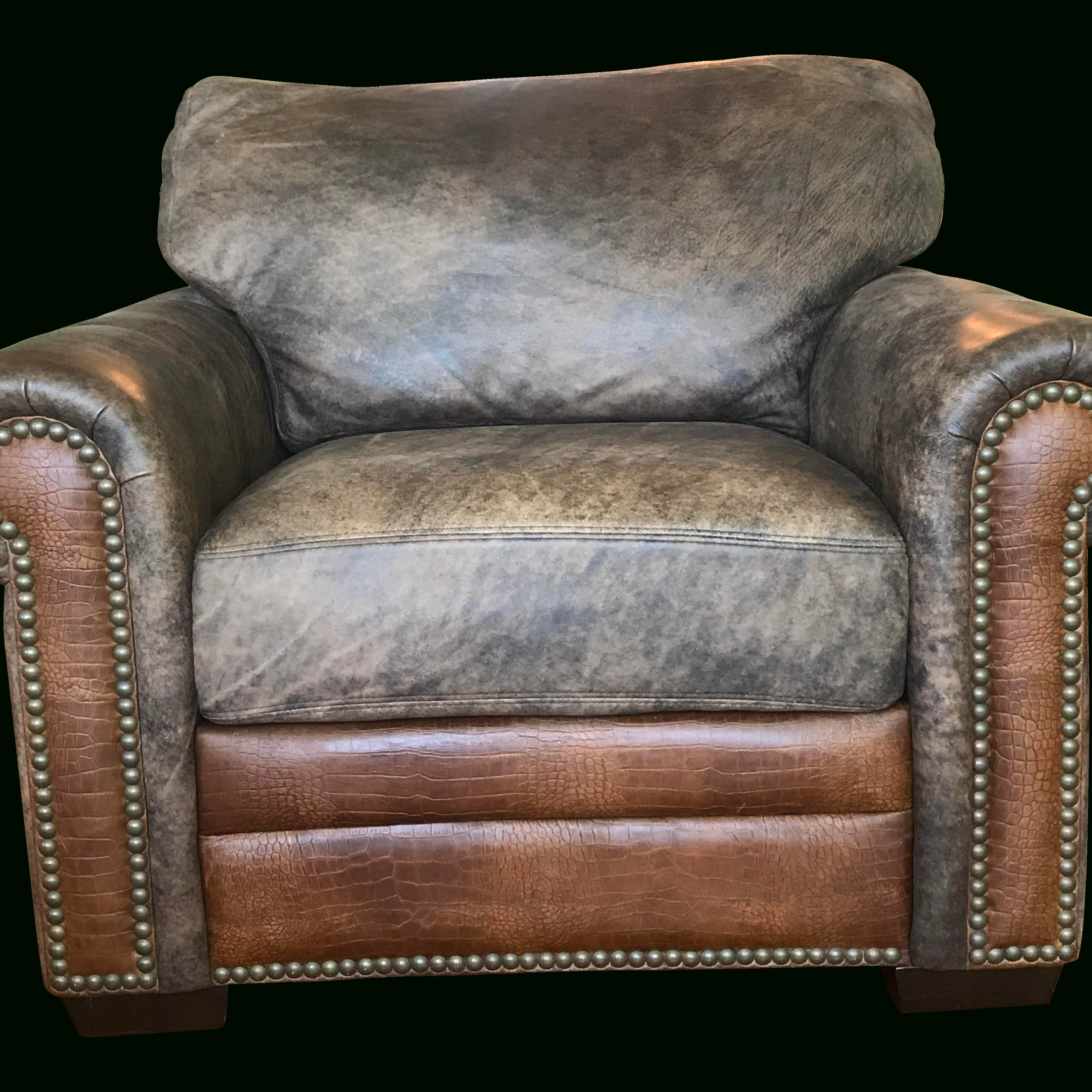 Well Known Sheldon Tufted Top Grain Leather Club Chairs Inside Brown Soft Leather Chair (View 11 of 20)