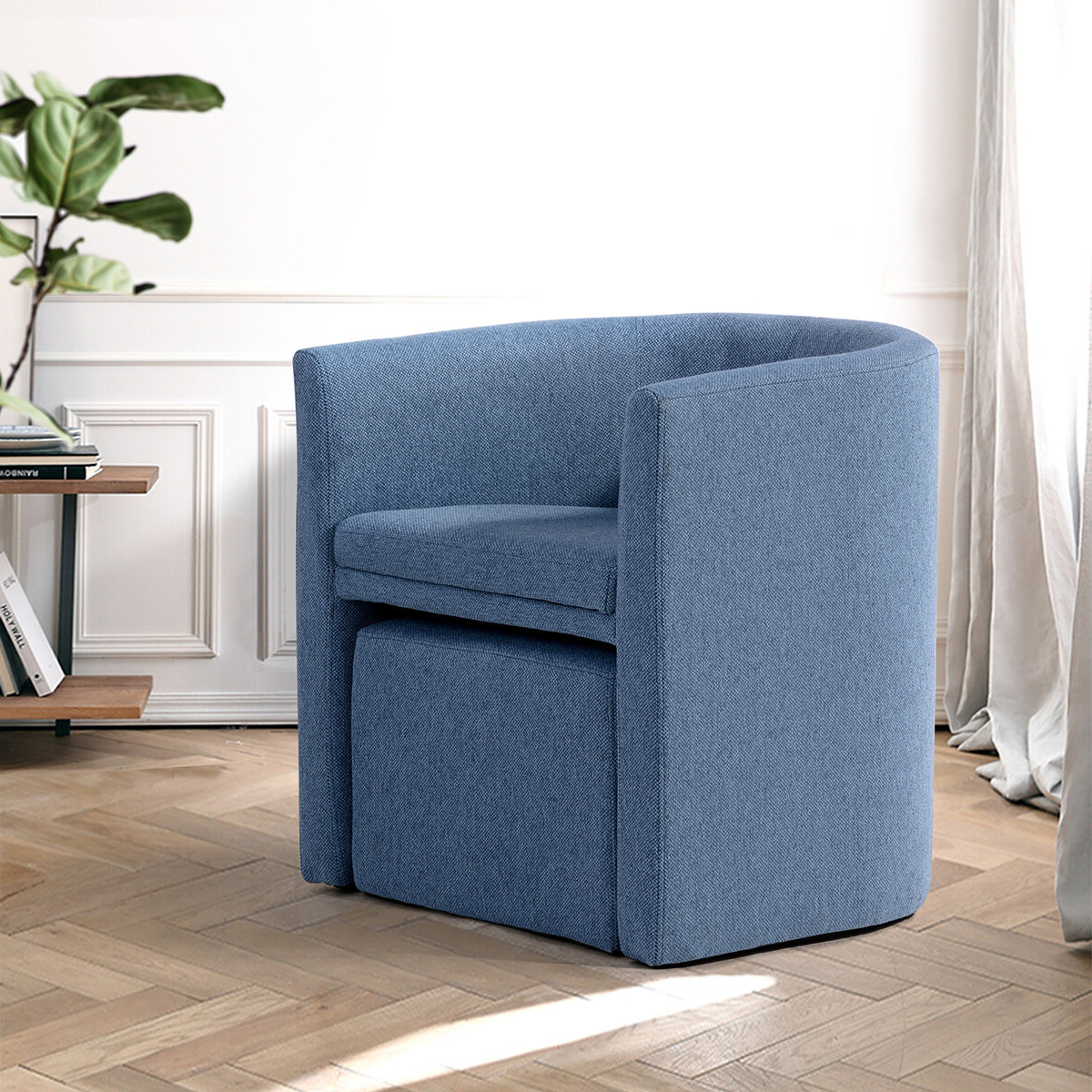 Well Liked Ansis Barrel Chair And Ottoman Pertaining To Briseno Barrel Chairs (View 5 of 20)
