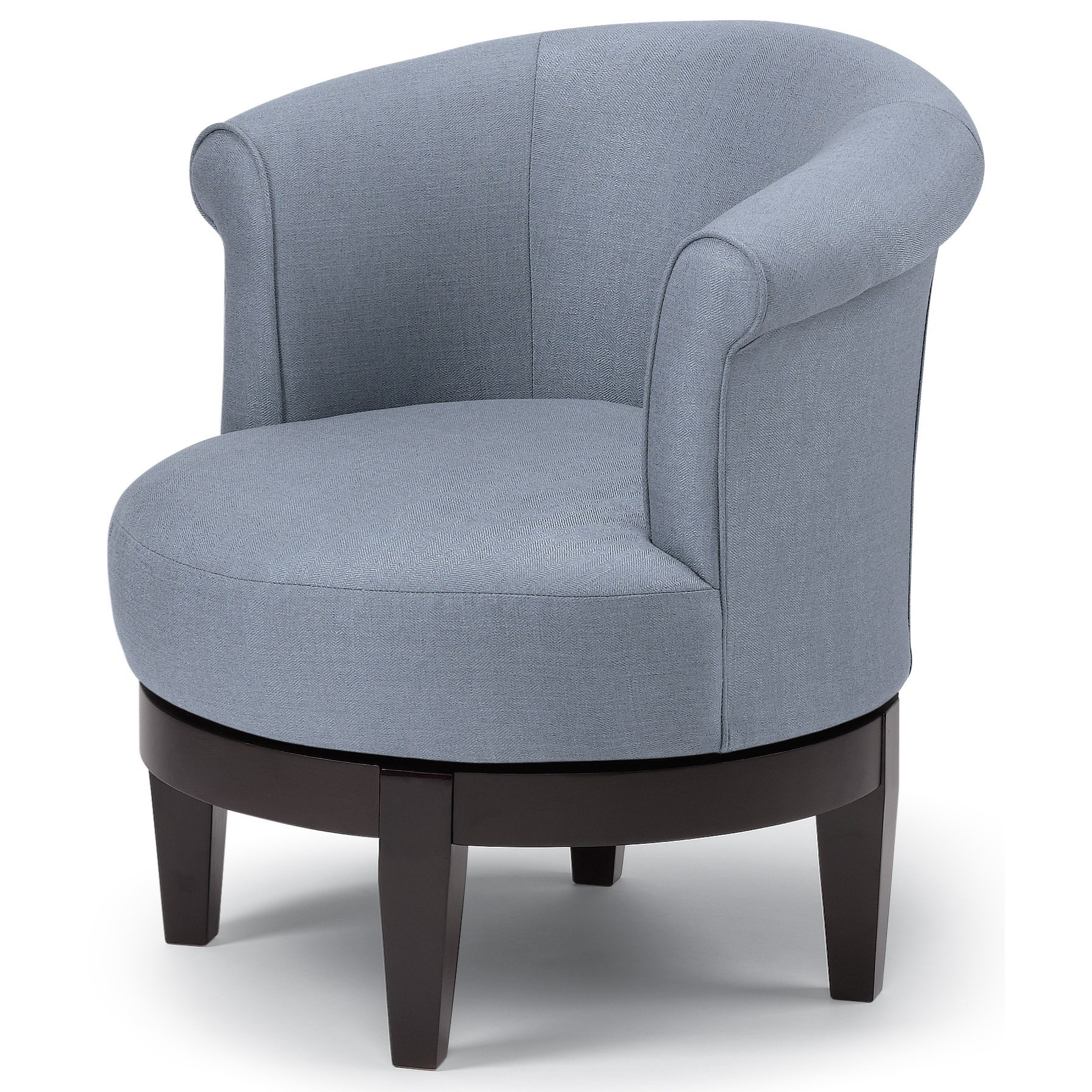 Well Liked Artemi Barrel Chair And Ottoman Sets In Best Home Furnishings Chairs – Swivel Barrel (View 20 of 20)