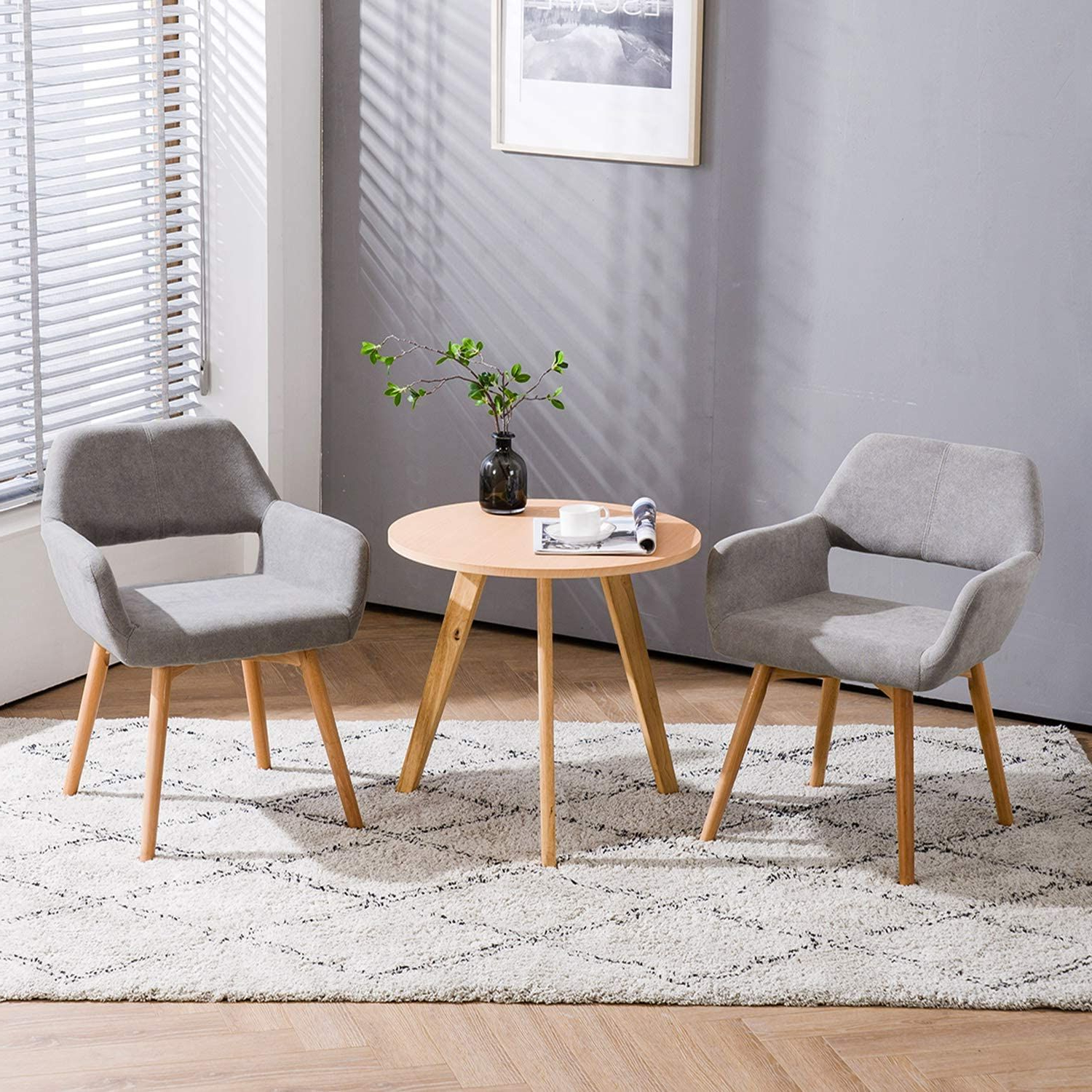 Well Liked Brister Swivel Side Chairs Pertaining To Homy Grigio Modern Living Dining Room Accent Arm Chairs Club (View 15 of 20)