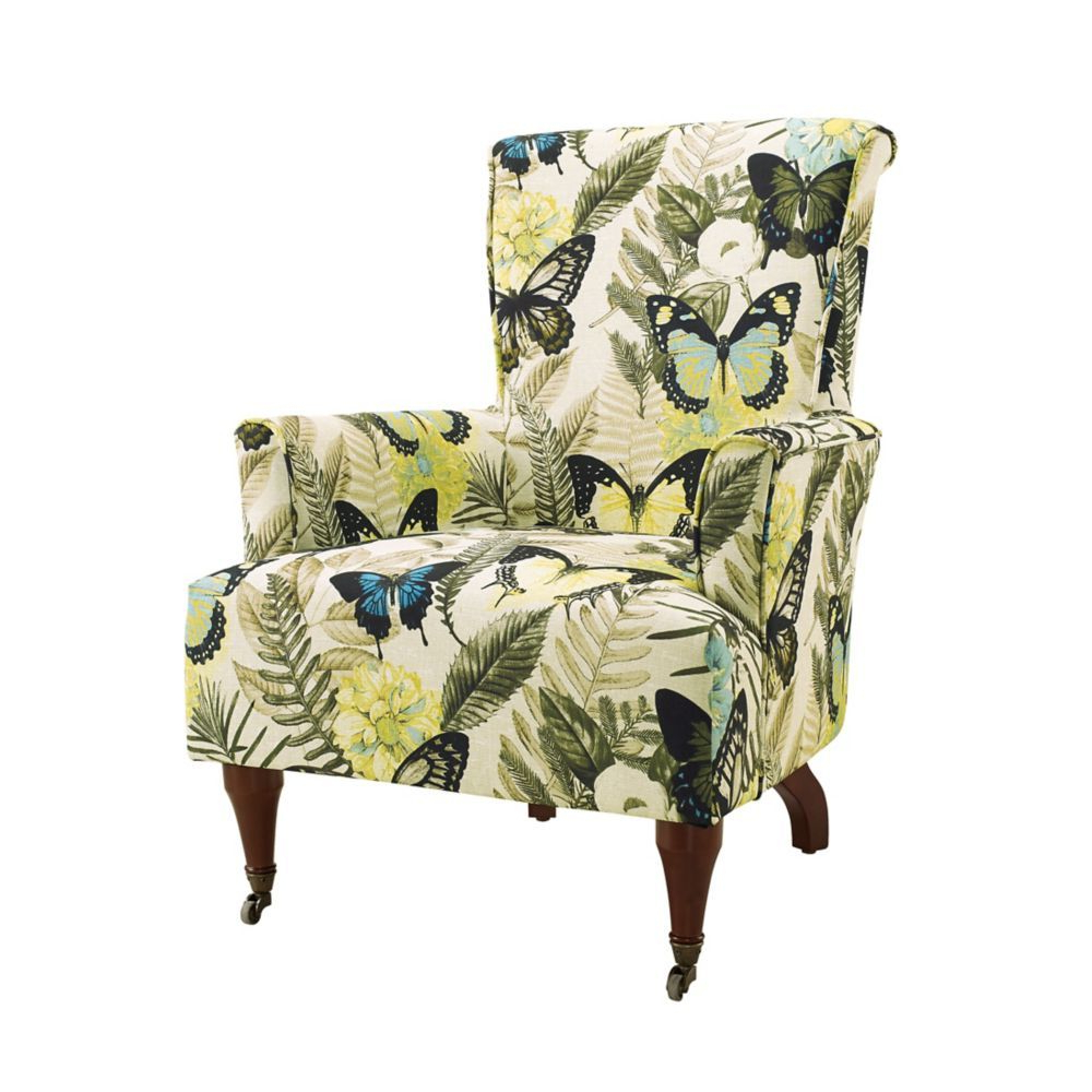 Well Liked Polyester Blend Armchairs For Traditional Bergère Polyester/polyester Blend Accent Chair (View 19 of 20)