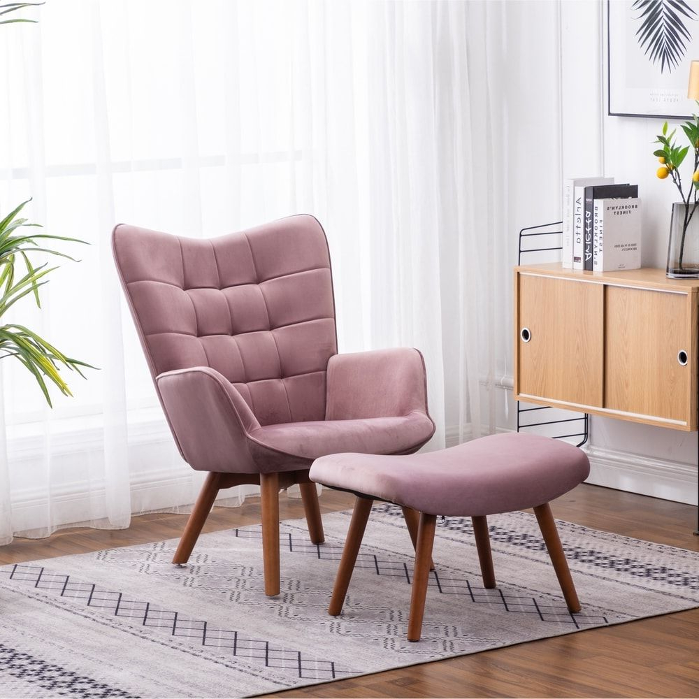 Well Liked Starks Tufted Fabric Chesterfield Chair And Ottoman Sets Pertaining To Overstock: Online Shopping – Bedding, Furniture (View 9 of 20)