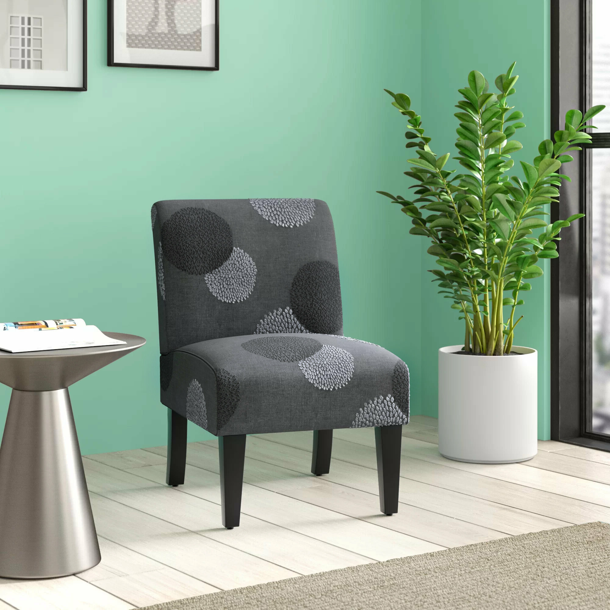 Well Liked Suki Armchairs By Canora Grey Throughout Polyester & Polyester Blend Accent Chairs You'll Love In (View 12 of 20)