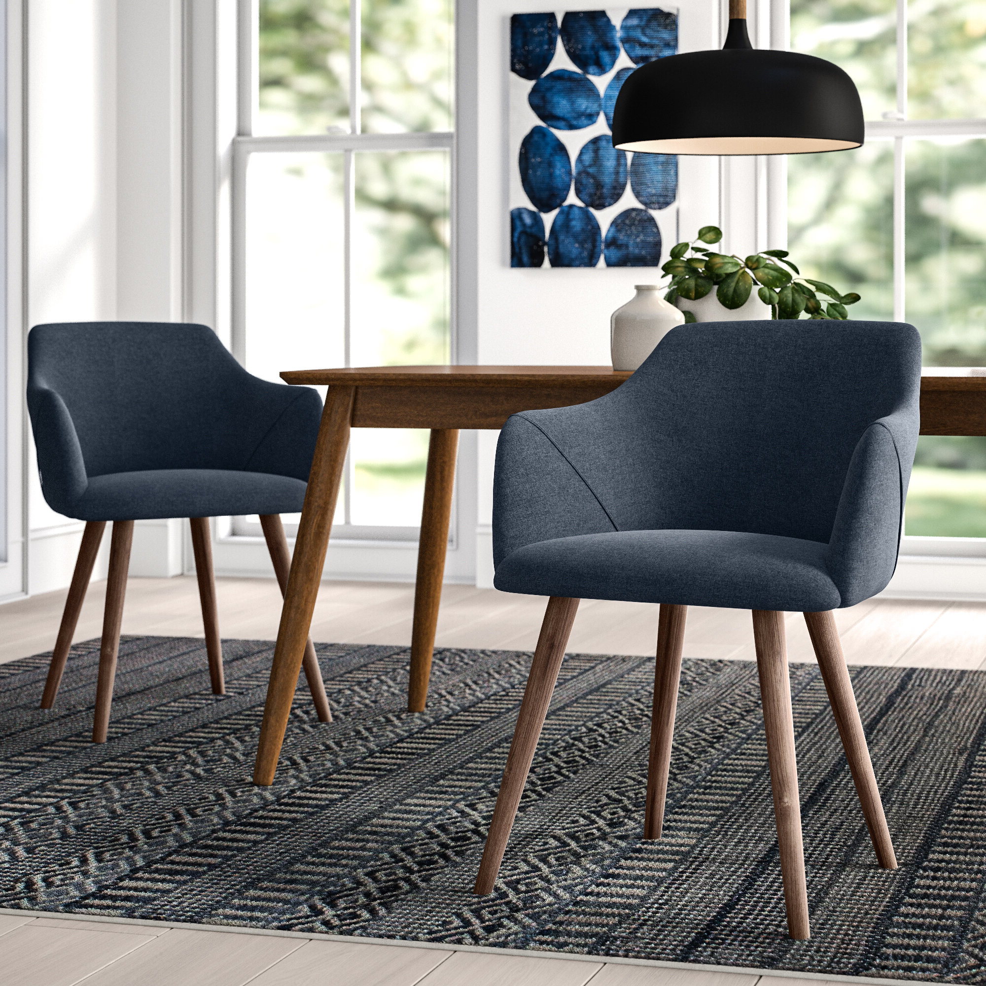 Well Liked Upper Square™ Brie Solid Wood Upholstered Dining Chair Regarding Carlton Wood Leg Upholstered Dining Chairs (View 15 of 20)