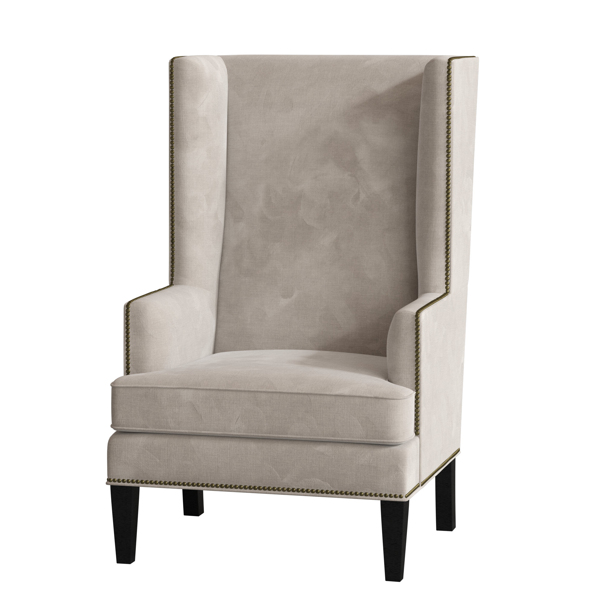 Well Liked Waterton Wingback Chairs Within Espresso Wood Wingback Accent Chairs You'll Love In (View 8 of 20)