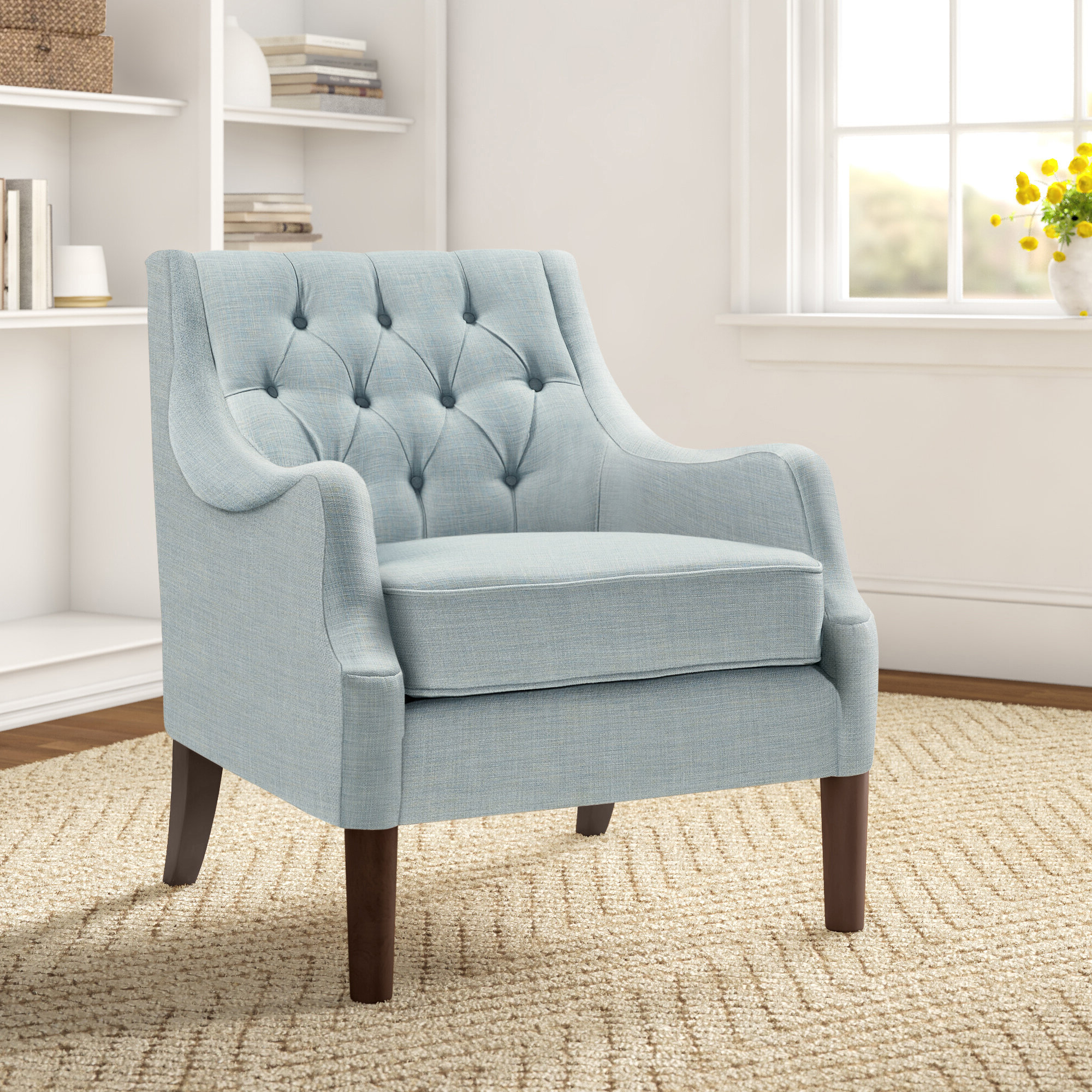 Widely Used Allis Tufted Polyester Blend Wingback Chairs For Galesville  (View 12 of 20)