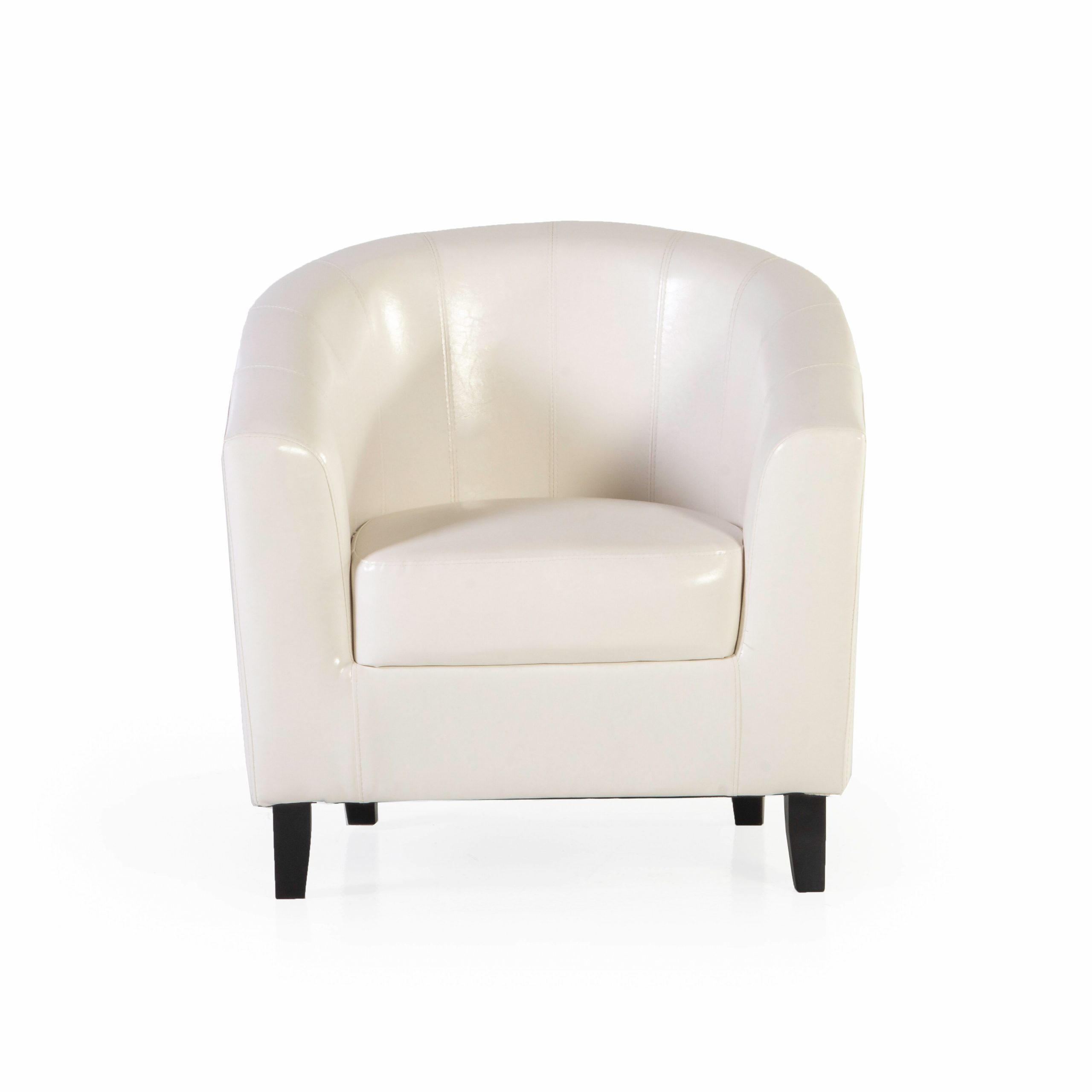 "Widely Used Angadresma 27"" W Faux Leather Barrel Chair Inside Liam Faux Leather Barrel Chairs (View 7 of 20)"