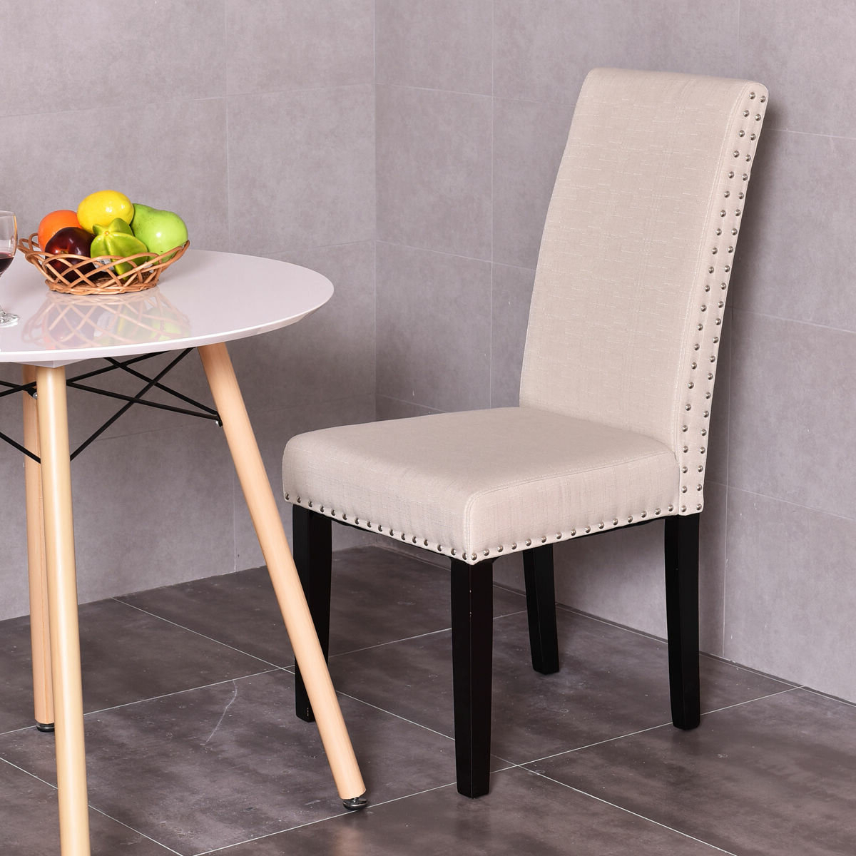 Widely Used Bob Stripe Upholstered Dining Chairs (set Of 2) Throughout Regil Upholstered Dining Chair (View 8 of 20)