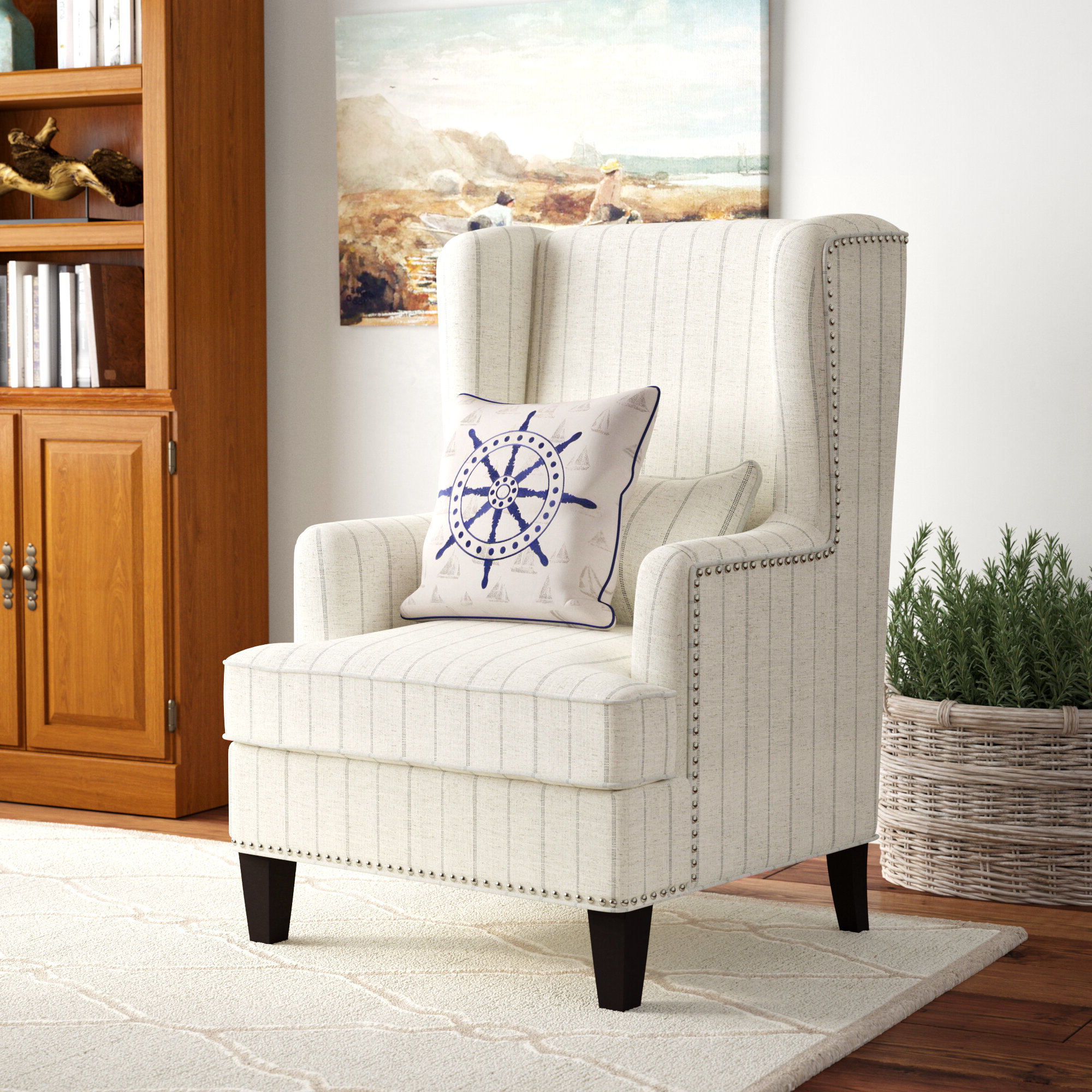 """Widely Used Bouck Wingback Chairs Pertaining To Mcdonald 34"""" W Wingback Chair (View 14 of 20)"""