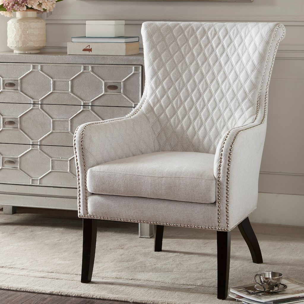 Widely Used Busti Wingback Chairs With Regard To Madison Park Lea Tufted Accent Chair (View 10 of 20)