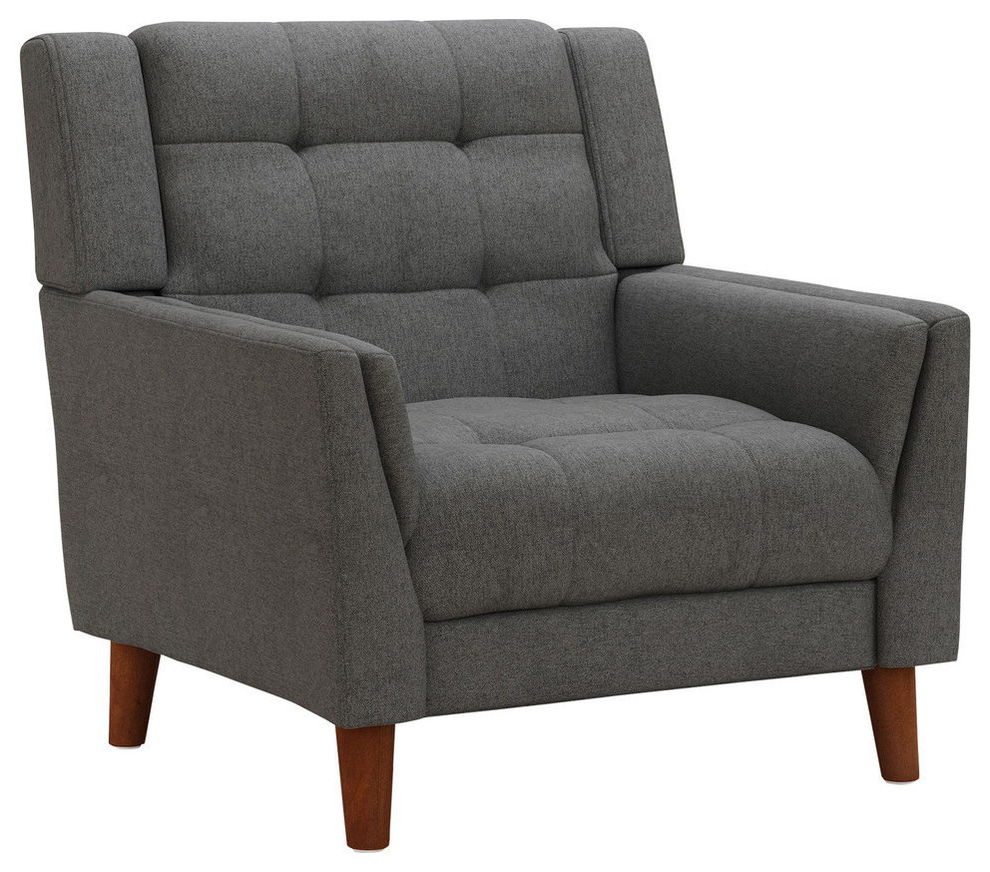 Widely Used Gdf Studio Evelyn Mid Century Modern Fabric Arm Chair In Pitts Armchairs (View 12 of 20)