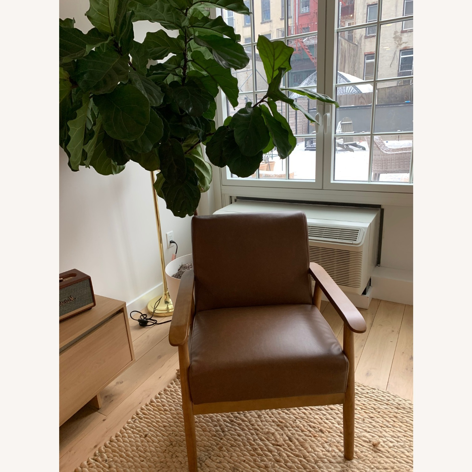 Widely Used Wayfair Cognac Faux Leather – Solid Wood With Jarin Faux Leather Armchairs (View 17 of 20)