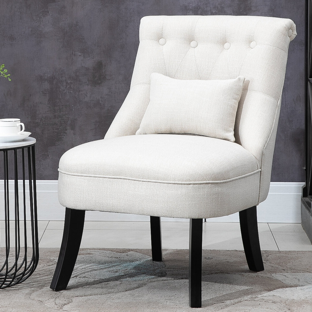 Winter Upholstered Fabric Side Chair In 2020 Chiles Linen Side Chairs (View 12 of 20)
