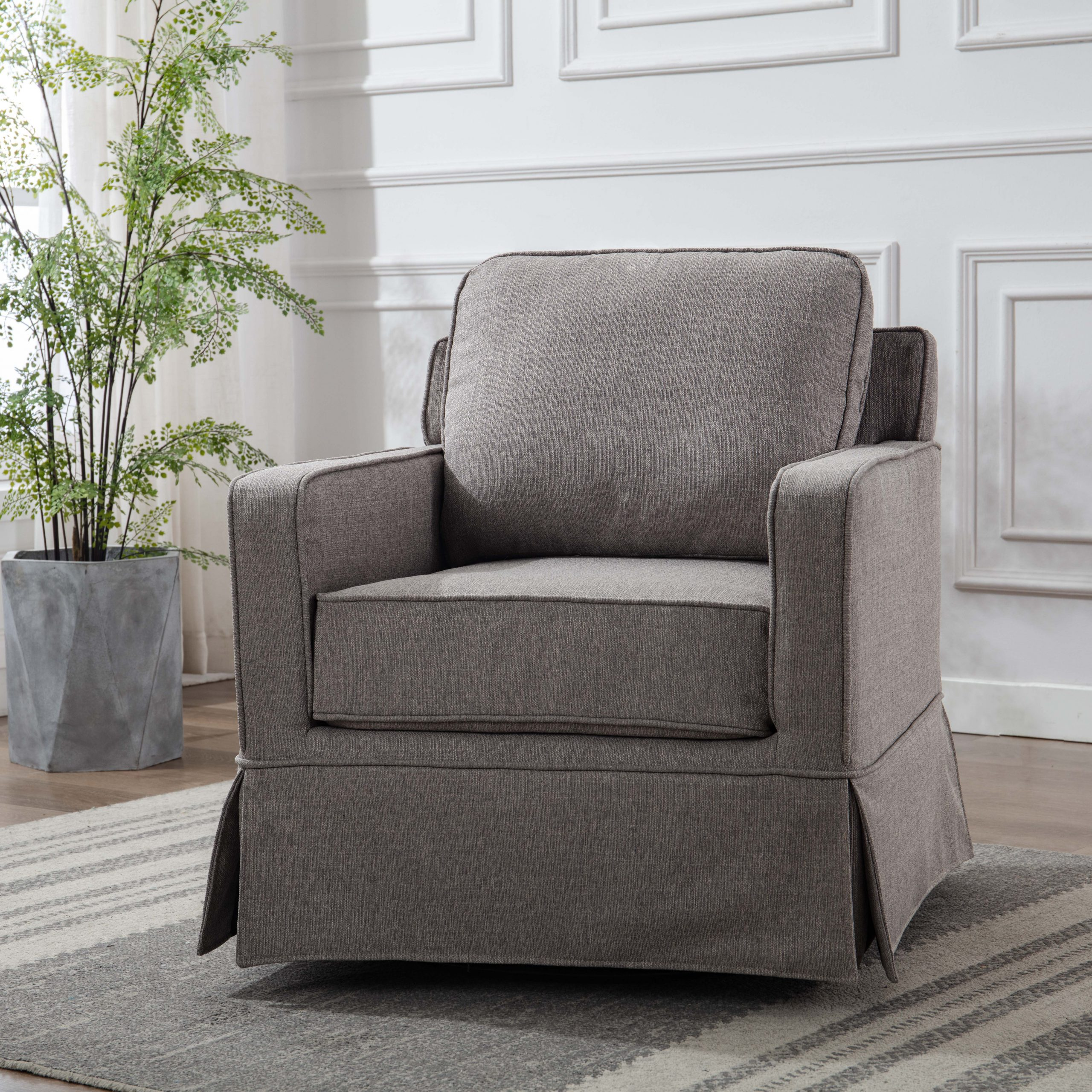 Zalina Swivel Armchairs Pertaining To Widely Used Zalina Swivel Armchair (View 1 of 20)