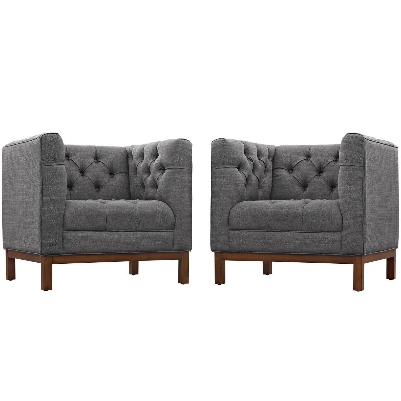 Ziaa Armchairs (set Of 2) Regarding Trendy Modern Contemporary Urban Design Living Lounge Room Sofa Set (View 8 of 20)