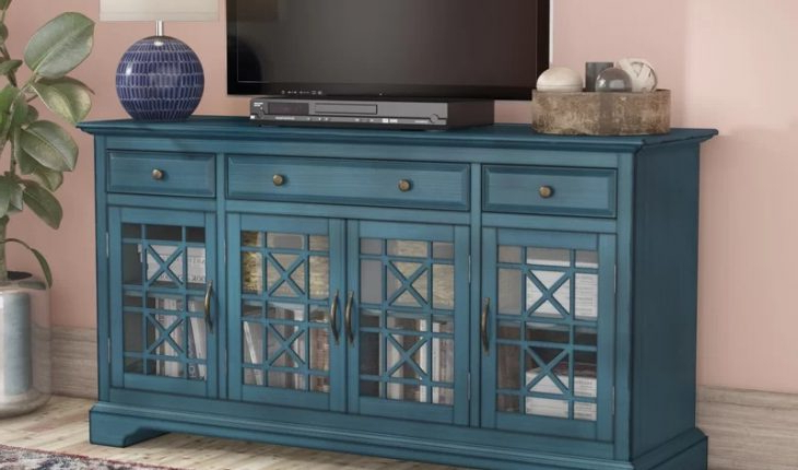 """2019 Daisi Tv Stand For Tvs Up To 60″mistana Review Pertaining To Evanston Tv Stands For Tvs Up To 60"""" (View 7 of 20)"""
