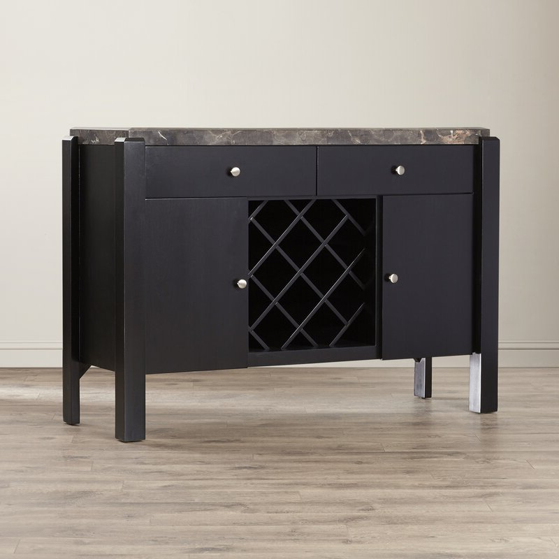 """2019 Milena 52"""" Wide 2 Drawer Sideboards Regarding Latitude Run Hinesville 52"""" Wide 2 Drawer Buffet Table (View 15 of 20)"""