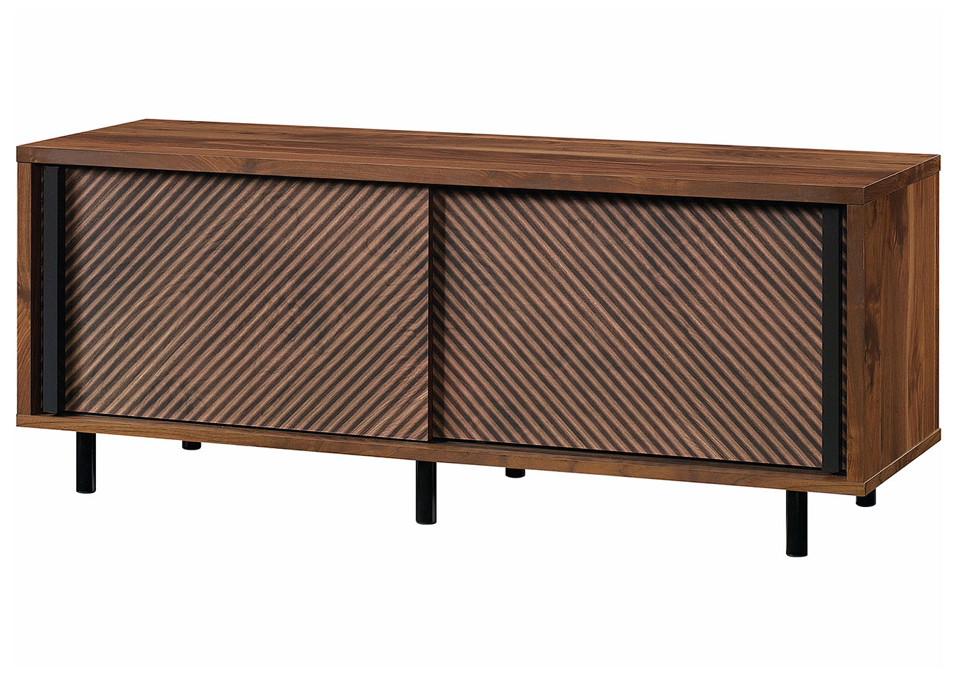 2019 Park Credenzas Intended For Harvey Park Grand Walnut Entertainment Credenza Roses (View 18 of 20)