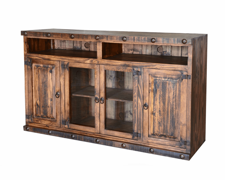 """2019 Rustic 60"""" Tv Stand, Pine Wood 60"""" Tv Stand, Wood Tv Stand Intended For Leafwood Tv Stands For Tvs Up To 60"""" (View 16 of 20)"""