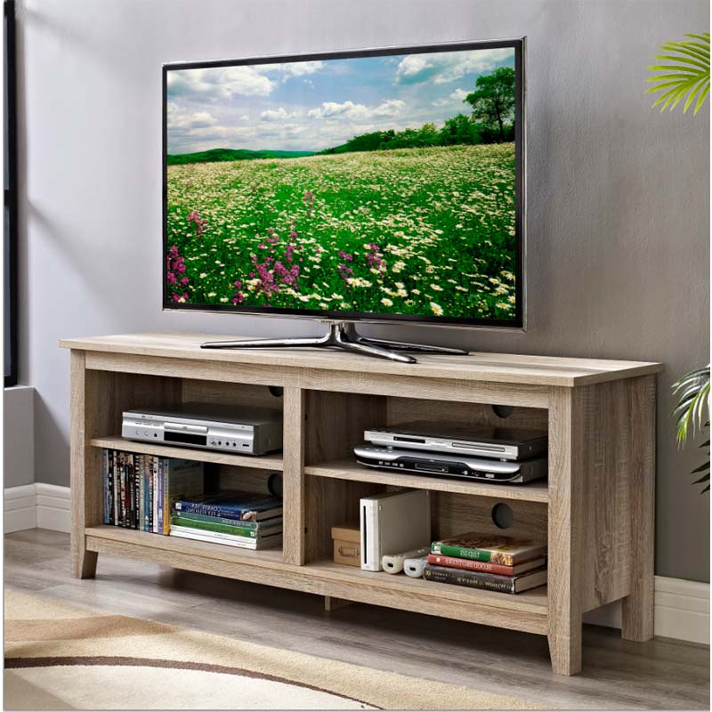 """2019 Walker Edison Urban Essentials 60 Inch Tv Stand Natural Within Alannah Tv Stands For Tvs Up To 60"""" (View 4 of 20)"""