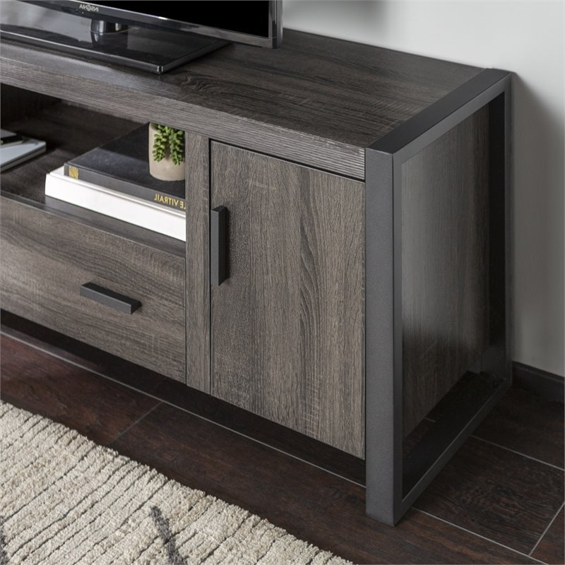 """2019 Whittier Tv Stands For Tvs Up To 60"""" Throughout Pemberly Row 60"""" Charcoal Grey Wood Tv Stand (View 6 of 20)"""