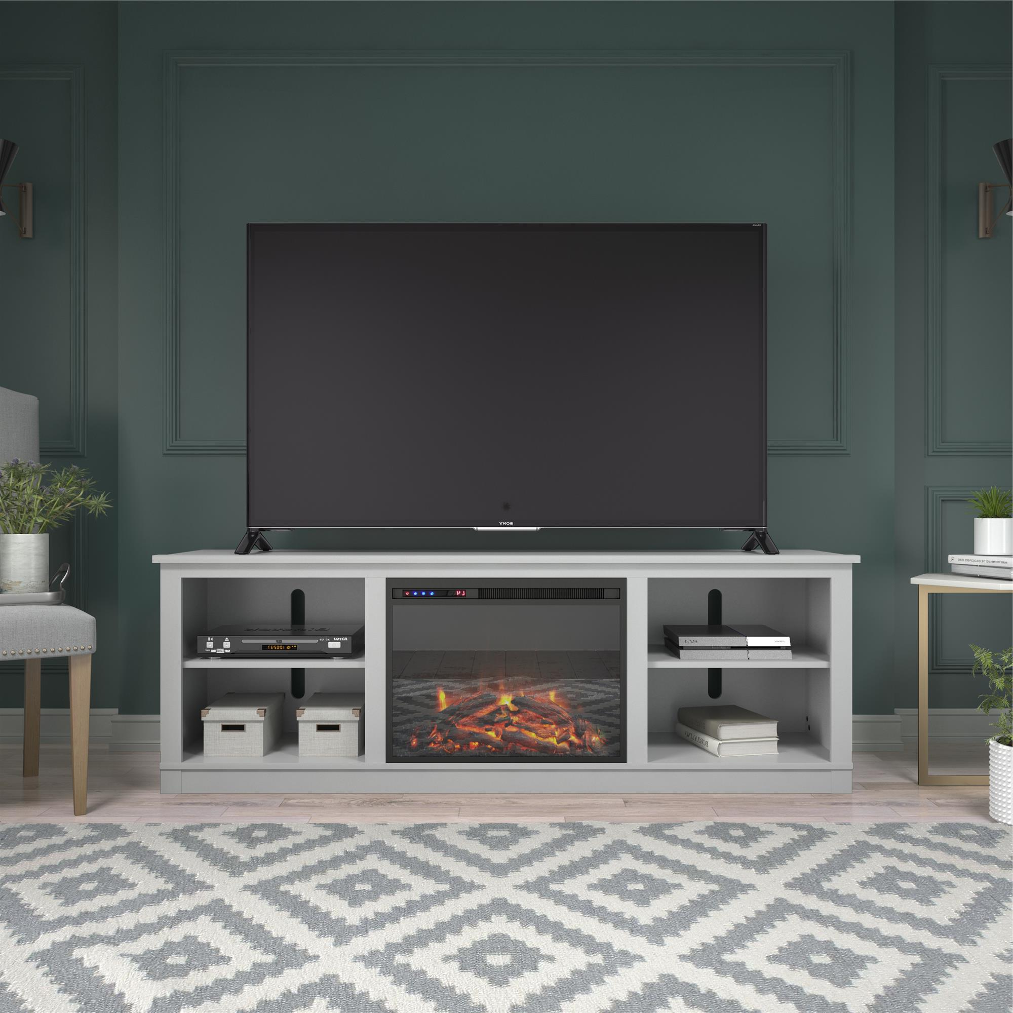 """2020 Ameriwood Home Kahle Fireplace Tv Stand For Tvs Up To 75 Intended For Lucille Tv Stands For Tvs Up To 75"""" (View 5 of 20)"""