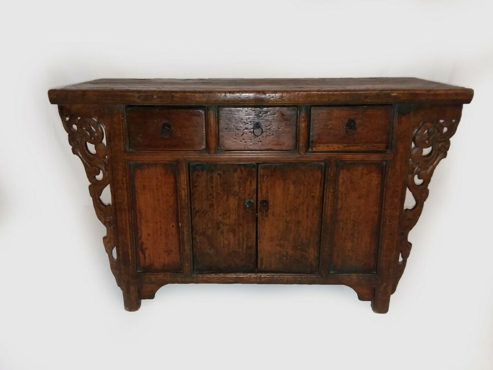"""2020 Antique Chinese Asian Buffet Sideboard Credenza Cabinet In Tabernash 55"""" Wood Buffet Tables (View 5 of 20)"""