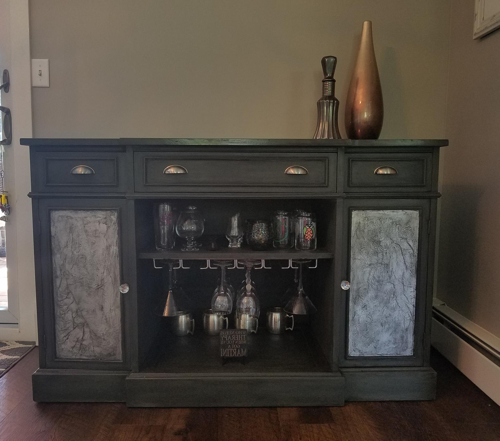 """2020 Bar Cabinet Units 500 To 1500 Dollars Page Two – Bar Scene With Regard To Yukon 58"""" Wide 2 Drawer Pine Wood Sideboards (View 11 of 20)"""