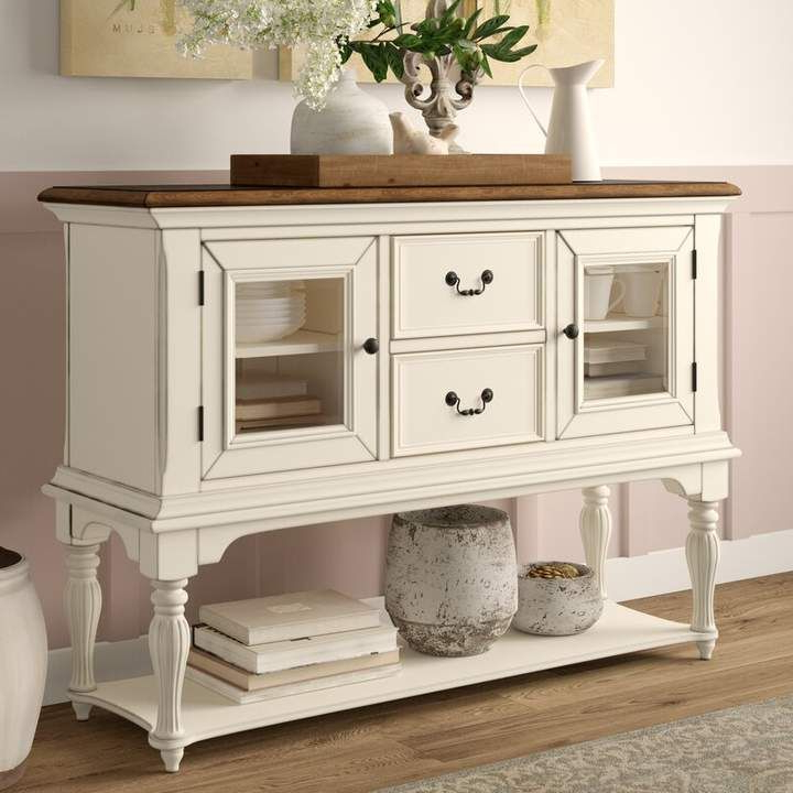 """2020 Bruin 56"""" Wide 2 Drawer Sideboards Within Lark Manor Ellon 56"""" Wide 2 Drawer Buffet Table In (View 11 of 20)"""