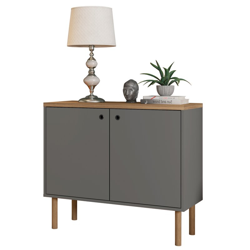 """2020 George Oliver Sideboards """"new York Range"""" Gray Solid Pine Wood Pertaining To George Oliver Maplesville 2 Door Accent Cabinet & Reviews (View 19 of 20)"""