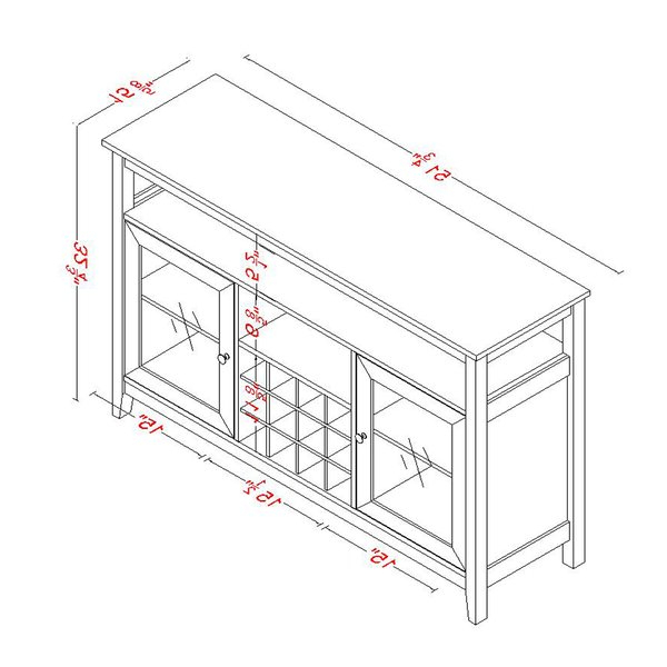 """2020 Kersten 51.8"""" Wide Sideboards Throughout Winston Porter Kersten (View 2 of 2)"""