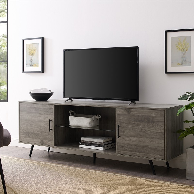 """2020 Lorraine Tv Stands For Tvs Up To 70"""" Intended For Walker Edison 70"""" Mid Century Modern Wood Tv Stand In (View 7 of 20)"""