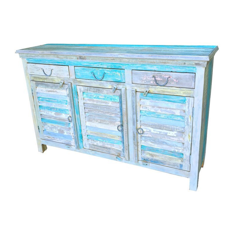 """2020 Maeva 60"""" 3 Drawer Sideboards Pertaining To Rosecliff Heights Knightsbridge 60"""" Wide 3 Drawer Acacia (View 19 of 20)"""