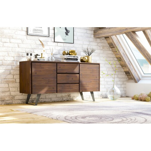 """2020 Maeva 60"""" 3 Drawer Sideboards With Allmodern Midway 60"""" Wide 3 Drawer Acacia Wood Buffet (View 20 of 20)"""