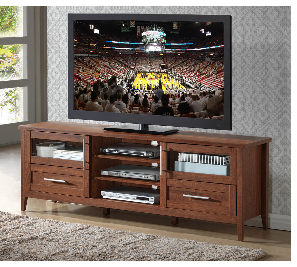 """2020 Modern Tv Stand With Storage For Tvs Up To 75"""", Oak Intended For Lucille Tv Stands For Tvs Up To 75"""" (View 2 of 20)"""