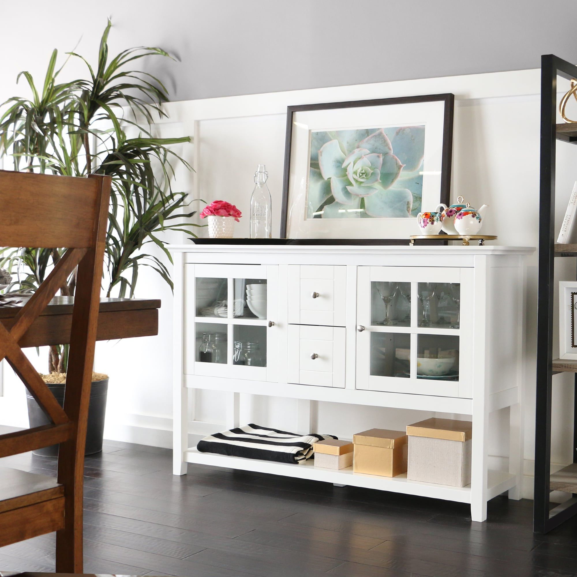 """2020 Slattery 52"""" Wide 2 Drawer Buffet Tables Throughout Middlebrook Designs 52 Inch White Buffet Cabinet Tv (View 15 of 20)"""