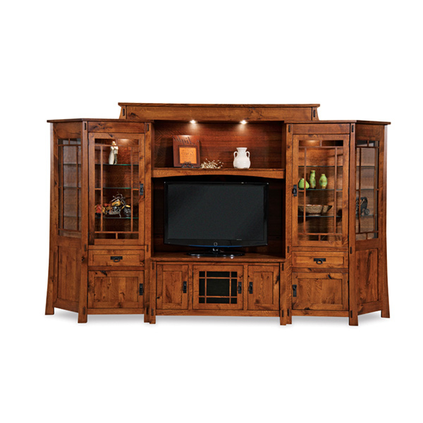 """2020 Westhoff 60"""" Wide 6 Drawer Pine Wood Credenzas Regarding Modesto 6pc Wall Unit W/ Angled Sides (View 10 of 20)"""