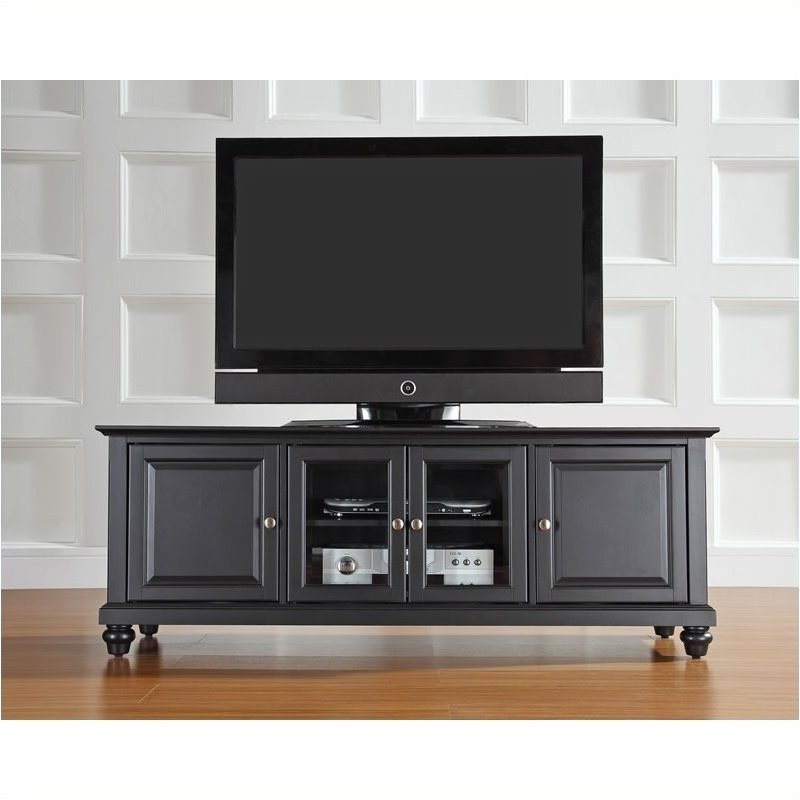 """2020 Whittier Tv Stands For Tvs Up To 60"""" With Pemberly Row 60"""" Low Profile Tv Stand In Black – Walmart (View 17 of 20)"""