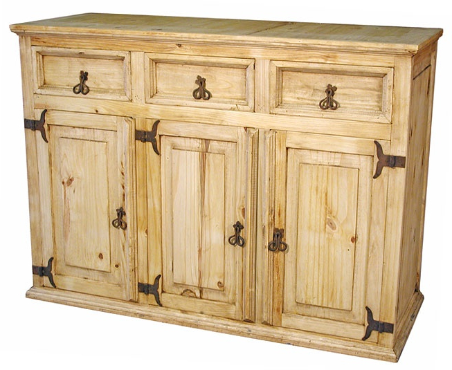 """26 Best Mexican Furniture – Rustic Furniture Images On Intended For Most Current Kinston 74"""" Wide 4 Drawer Pine Wood Sideboards (View 10 of 20)"""