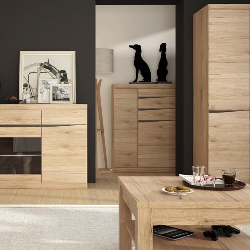 3 Drawer And 2 Door Cabinet With Metal Legs For Most Recent Kensington 2 Door 3 Drawer Cabinet (View 13 of 20)
