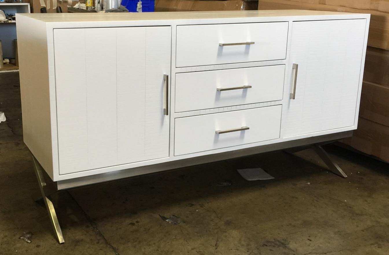 3 Drawer And 2 Door Cabinet With Metal Legs Pertaining To Current Marvin 3 Drawer & 2 Door Cabinet Storage (ap Mbf (View 8 of 20)