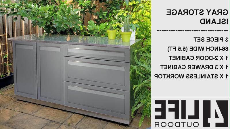 3 Drawer And 2 Door Cabinet With Metal Legs With Trendy Gray 3 Pc: 3 Drawer Cabinet, 2 Door Cabinet, Stainless (View 7 of 20)