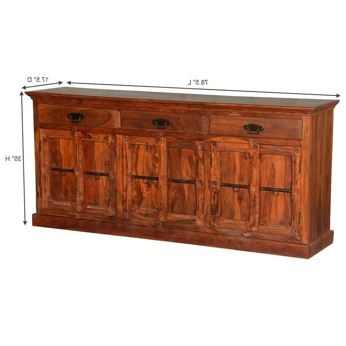 3 Drawer Sideboards For Well Known Lithopolis Classic Solid Wood Hand Carved 3 Drawer (View 10 of 20)