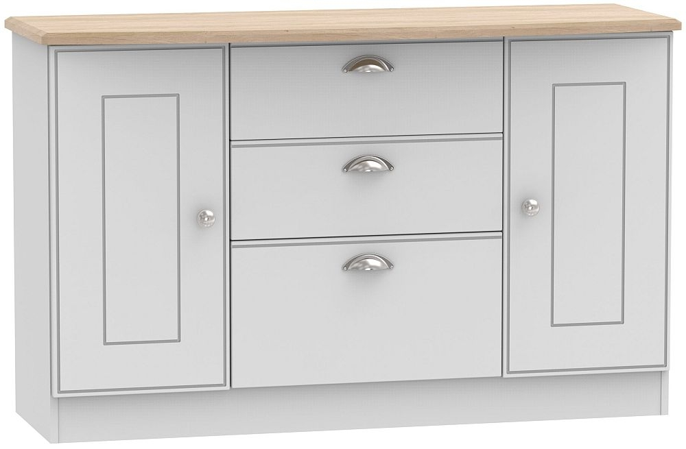 3 Drawer Sideboards Within Best And Newest Welcome Victoria 2 Door 3 Drawer Sideboard (View 14 of 20)