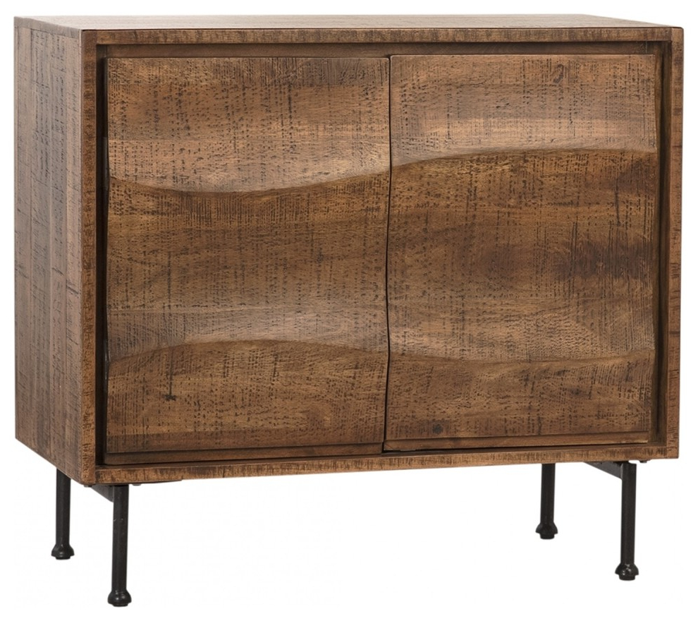 """37"""" W Pantaleone Sideboard Solid Natural Mango Wood Iron Intended For Recent Northwood 72"""" Wide Mango Wood Buffet Tables (View 4 of 20)"""