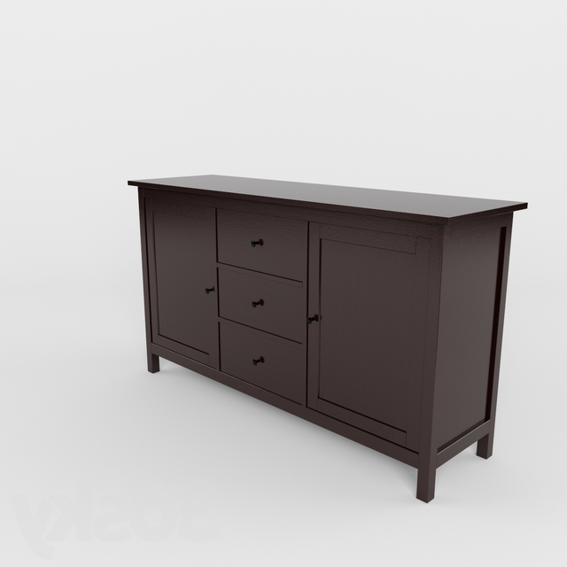 """3d Models: Sideboard & Chest Of Drawer – Ikea – Hemnes Pertaining To Famous Ismay 56"""" Wide 3 Drawer Sideboards (View 8 of 20)"""