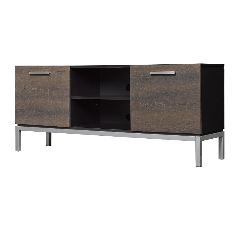 """56"""" Imperial Black Entertainment Media Tv Stand – Tc52 Inside 2019 Kemble Tv Stands For Tvs Up To (View 10 of 20)"""