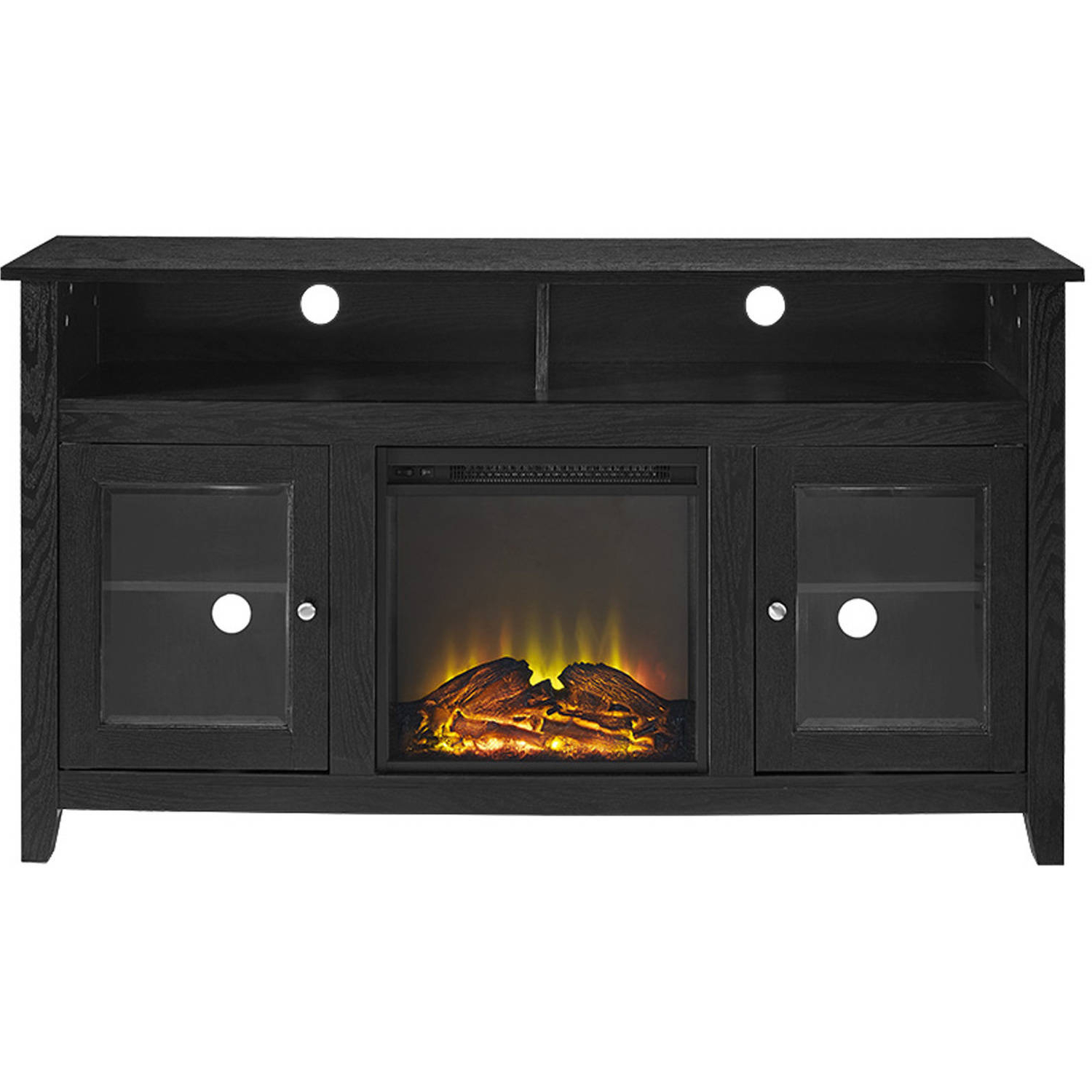 """58"""" Wood Highboy Fireplace Tv Stand For Tvs Up To 60 With Recent Berene Tv Stands For Tvs Up To 58"""" (View 8 of 20)"""