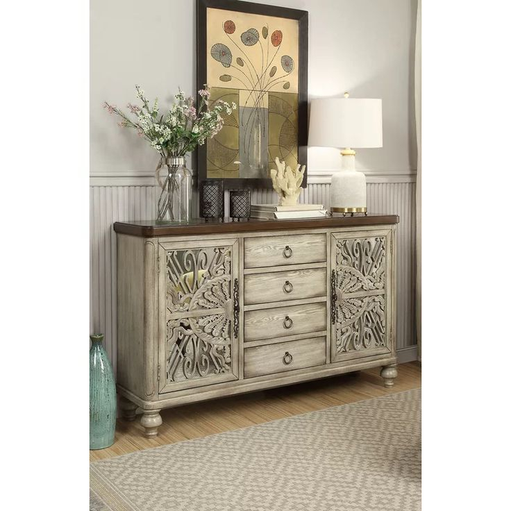 """64"""" Wide Rubberwood Sideboards Pertaining To Favorite Pin On Megan (View 9 of 20)"""