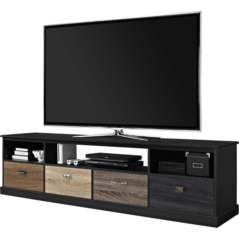 """65"""" Tv Stand In Black – 1773196pcom Throughout Most Recently Released Aaric Tv Stands For Tvs Up To 65"""" (View 9 of 20)"""